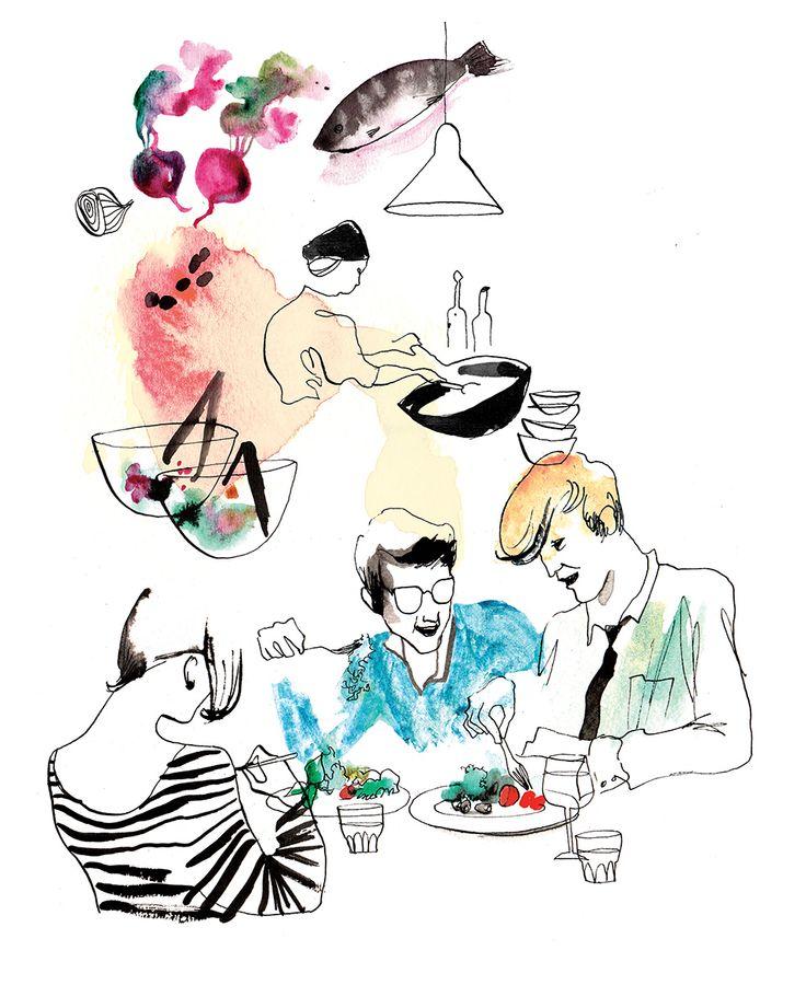 Illustration by Eili-Kaija Kuusniemi for Fazer Café — Agent Pekka