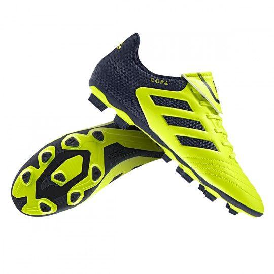 Botas de fútbol adidas Copa 17.4. Botas de piel, para campos de hierba natural y artificial de última generación. Botas de gama alta en color Solar yello