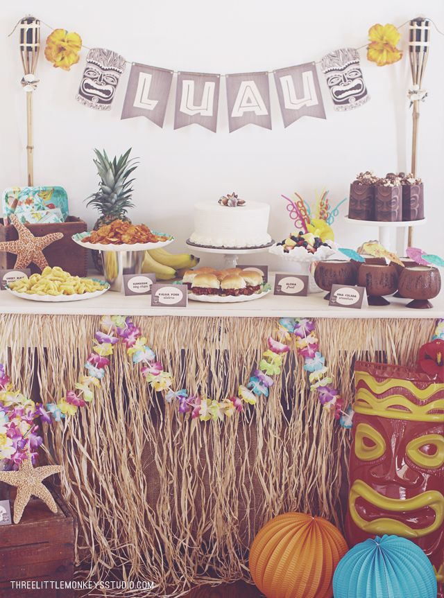 A Hawaiian Luau Party by ThreeLittleMonkeysStudio.com: