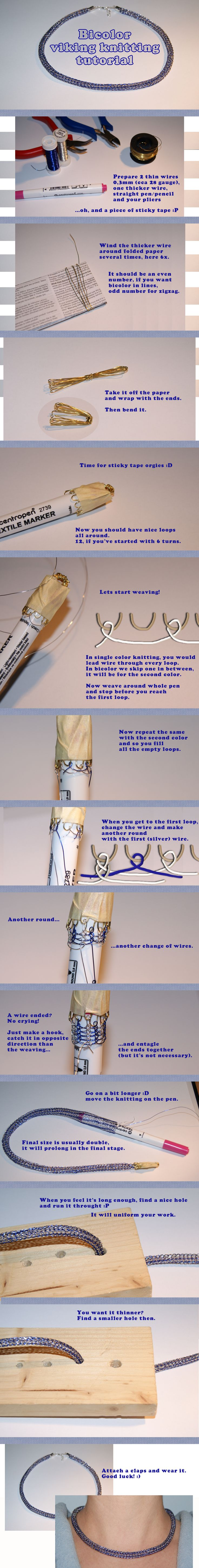 Tutorial of Bicolor viking knitting by Eveqi on deviantART