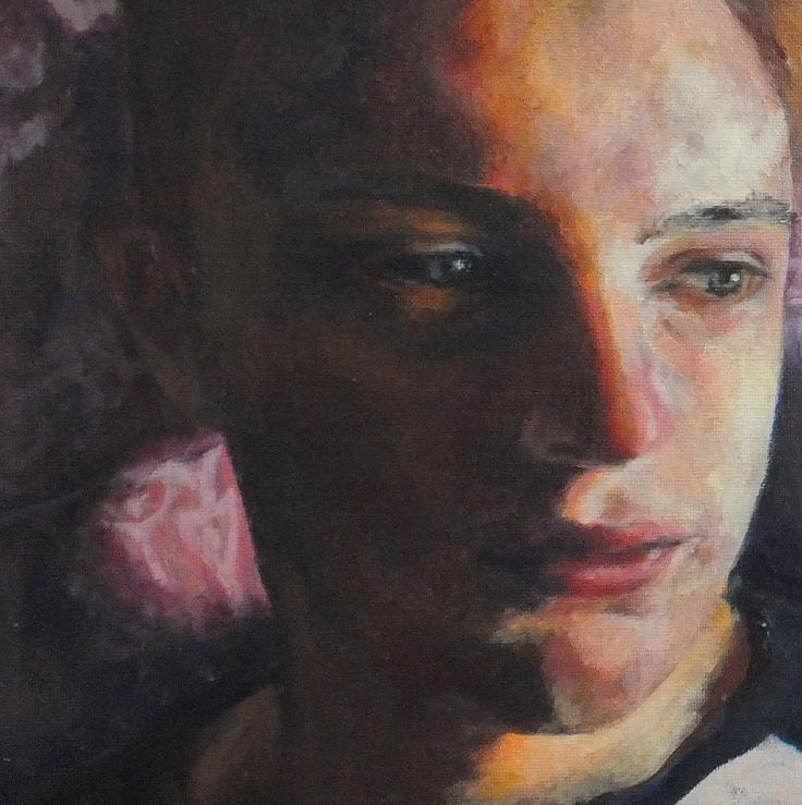 Jasmyn - Oil on Board - detail -  Truro College A level Fine Art Coursework Show 2017