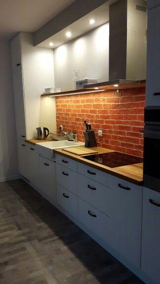 My kitchen  #myhome #ournewhome #design #interiordesign #love #happy #mykitchen #myproject #brick #white #grey #newone #wood
