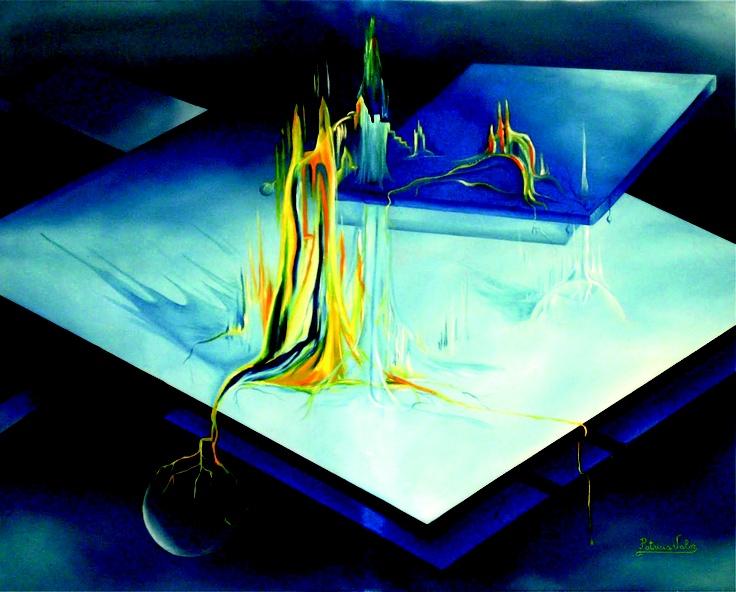 """Artista: Patricia Valor """"Castillos en el aire"""" oleo sobre tela 80 x 100 cm"""