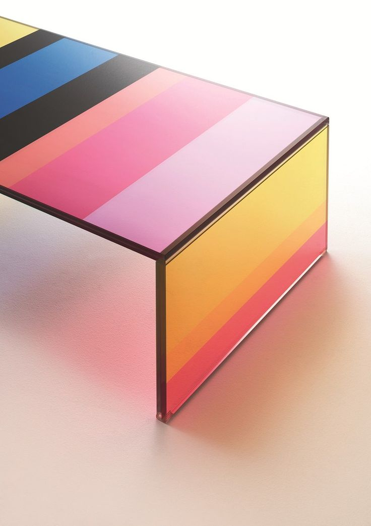 Low rectangular crystal coffee table THE DARK SIDE OF THE MOON by Glas Italia