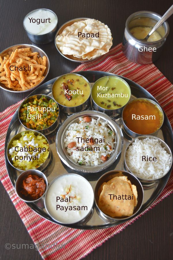 Today's thaali comes from the south Indian state of Tamil nadu which involves around rice. The side dishes, curries and lentil based dis...