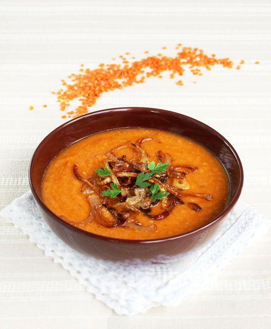 Red lentil and Harissa Cream