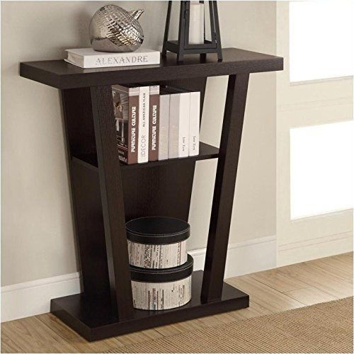 New Coaster Home Furnishings Furniture Contemporary Console Brown Table Decor #CoasterHomeFurnishings