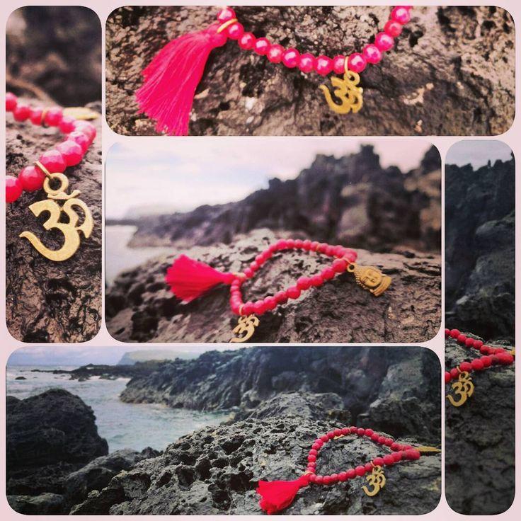 Pulsera / Brazalete ágata / Om / Buda / Borla #yantra_jewelry  #pulsera #budismo #piedrasnaturales #buda #agata #meditacion #yoga #playa #isladepascua