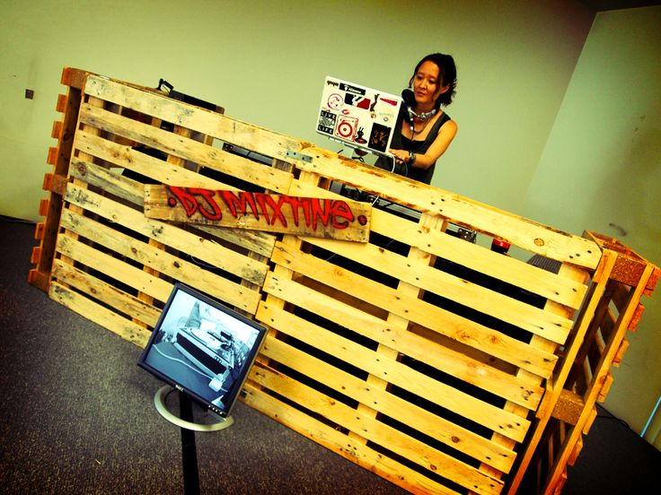 DJ Booth made from pallets