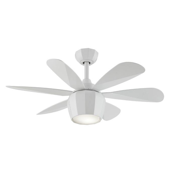 36 Hickman 6 Blade Ceiling Fan With Remote Ceiling Fan White