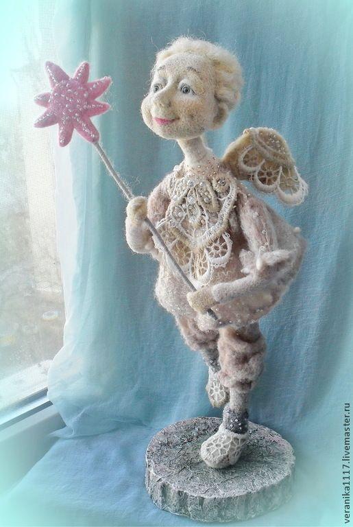 """Купить Кукла из шерсти """"С Рождеством!"""" - рождественский ангел, рождественский подарок, подарок на новый год"""