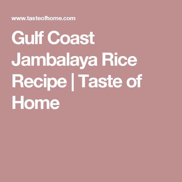 Gulf Coast Jambalaya Rice Recipe | Taste of Home