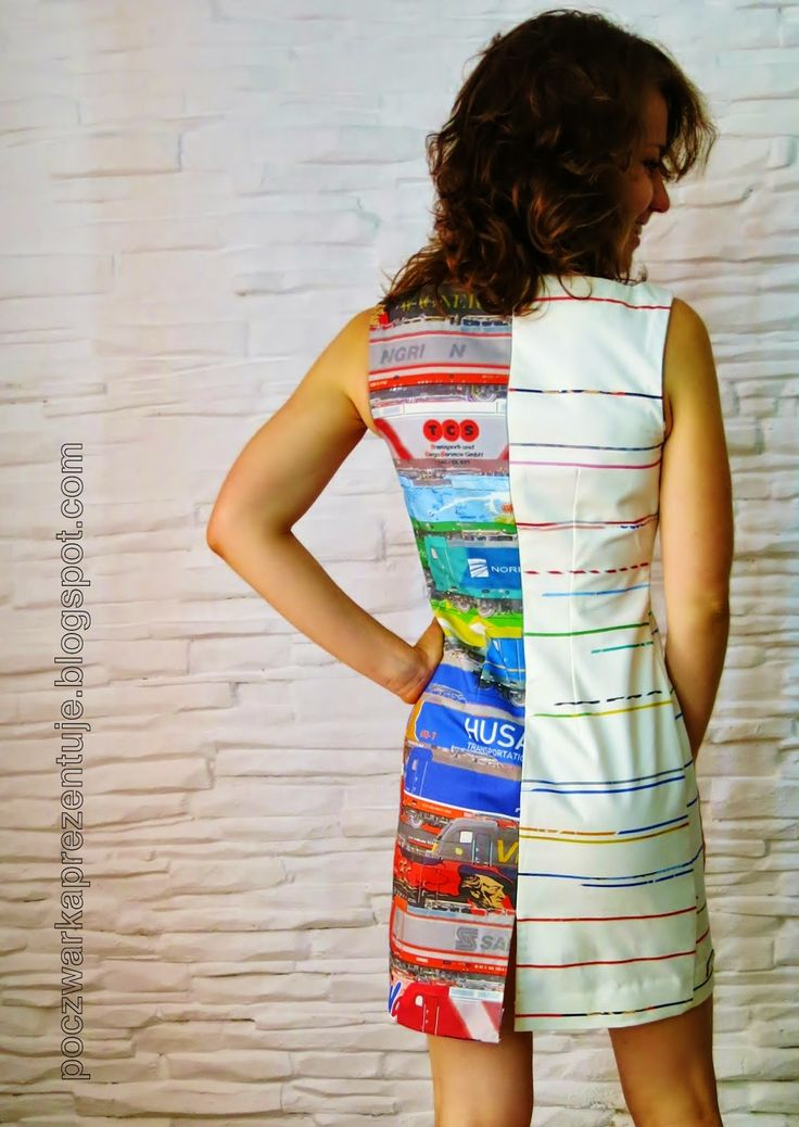 Poczwarka Prezentuje...: The Railcolorful Dress czyli Lokosukienka
