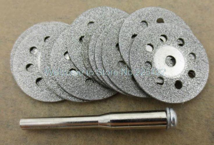 Worldwide free freight - 10x 22mm diamond cutting discs tool for cutting stone cut disc abrasives cutting dremel rotary tool accessories dremel cutter