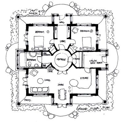 Organic Sacred Geometry House Plans