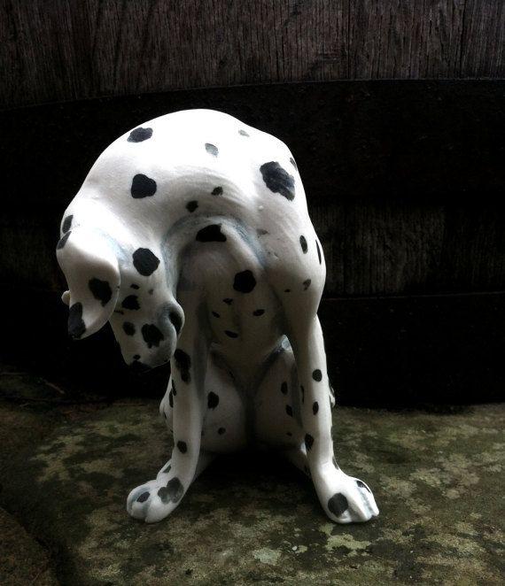 Dalmatian dog dog figurine porcelain dog by LivingCeramics on Etsy