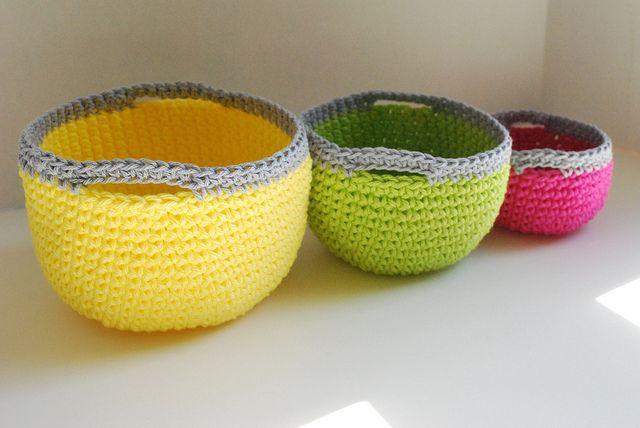 Crocheted Nesting Baskets Idea