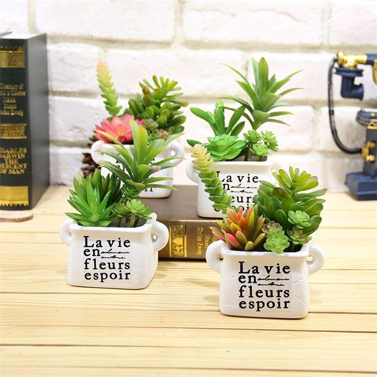 Искусственные суккуленты Реалистичные Мини Искусственные Растения Поддельные Цветок рождество свадьба украшения для дома plantas artificiales купить на AliExpress