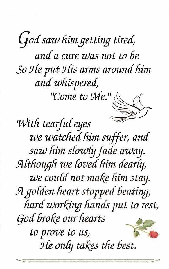 Funeral verse. by Lisa Clark jbn7x