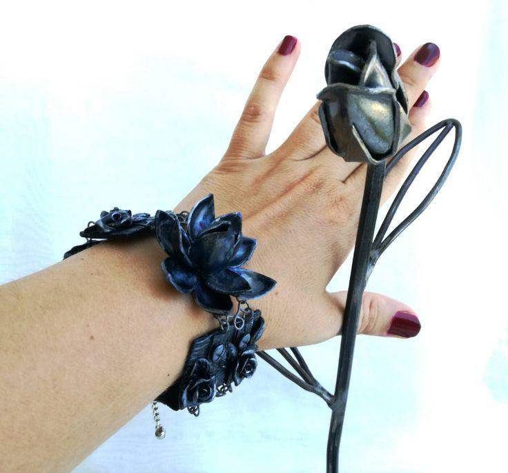 LotosJewelryHandmade: Polymer clay & bead floral jewelry, women's accessories