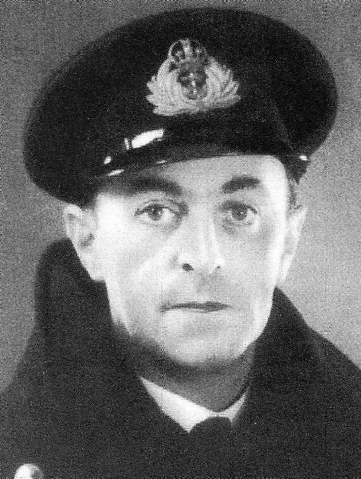 Portrait of British Naval Intelligence officer Lt Cdr Ewen Montagu RNVR, one of the principal architects of Operation Mincemeat, 1943.