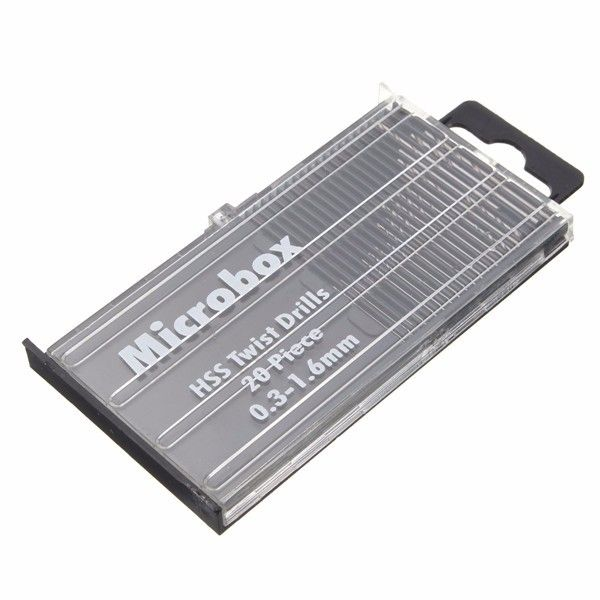 20pcs 0 3 1 6mm Poco Hss Taladro Micro Giro Ajustado Brocas Helicoidales Con Mango Cilindrico Drill Bits Drill Micro Twists