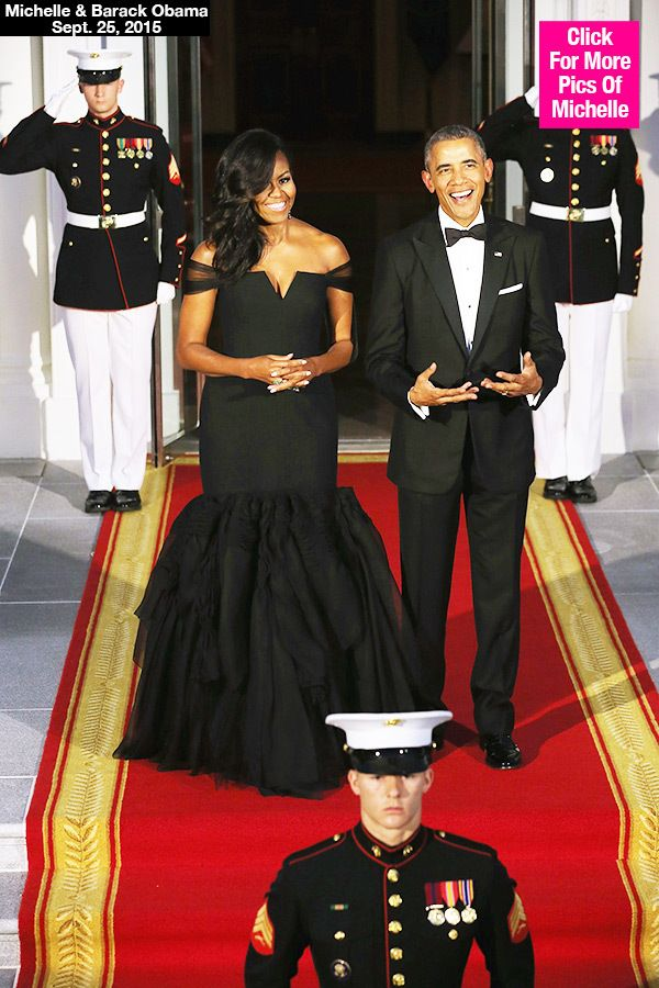 Michelle Obama Stuns In Gorgeous Vera Wang Gown At China StateDinner