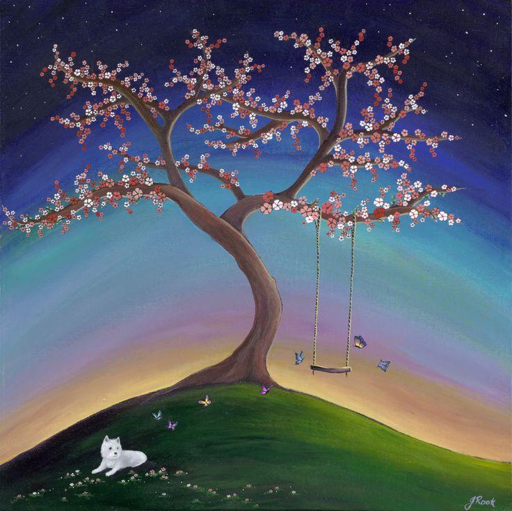 """Spring"" acrylic on canvas board 30x30cm"