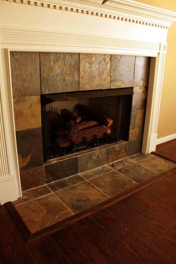 Tile Fireplace Surround >> Best 25+ Slate fireplace surround ideas on Pinterest