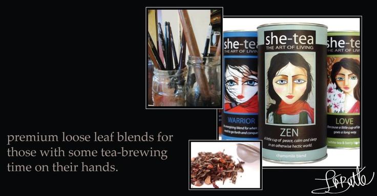 Gorgeous tea, gorgeous art, what's not to love?