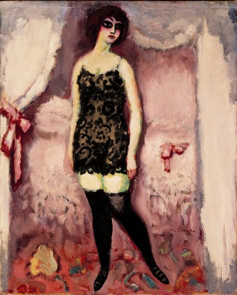 La Chemise Noire (Van Dongen) I fell in love with this painting at the SFMOMA and subsequently with other Von Dongen paintings.