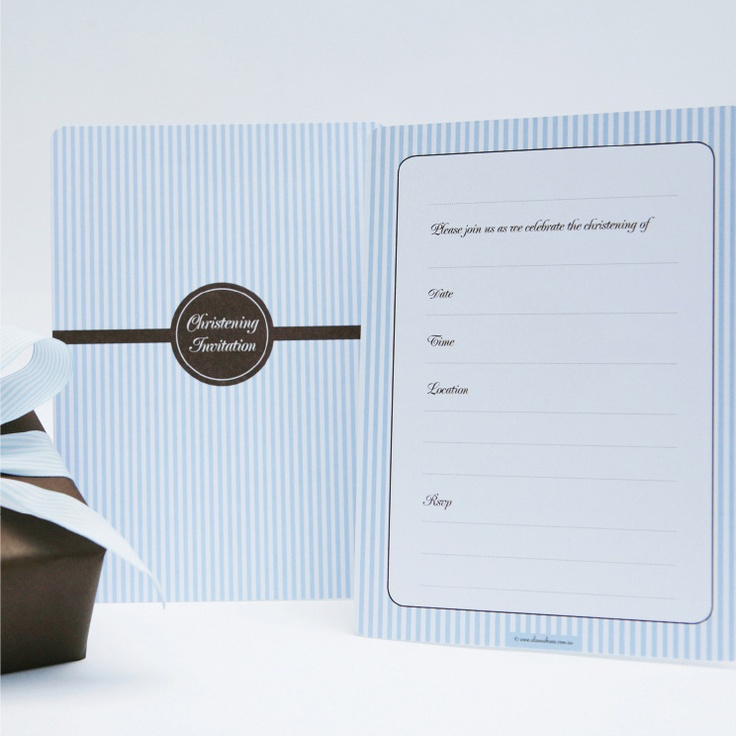 Blue and chocolate striped invitation 107 best