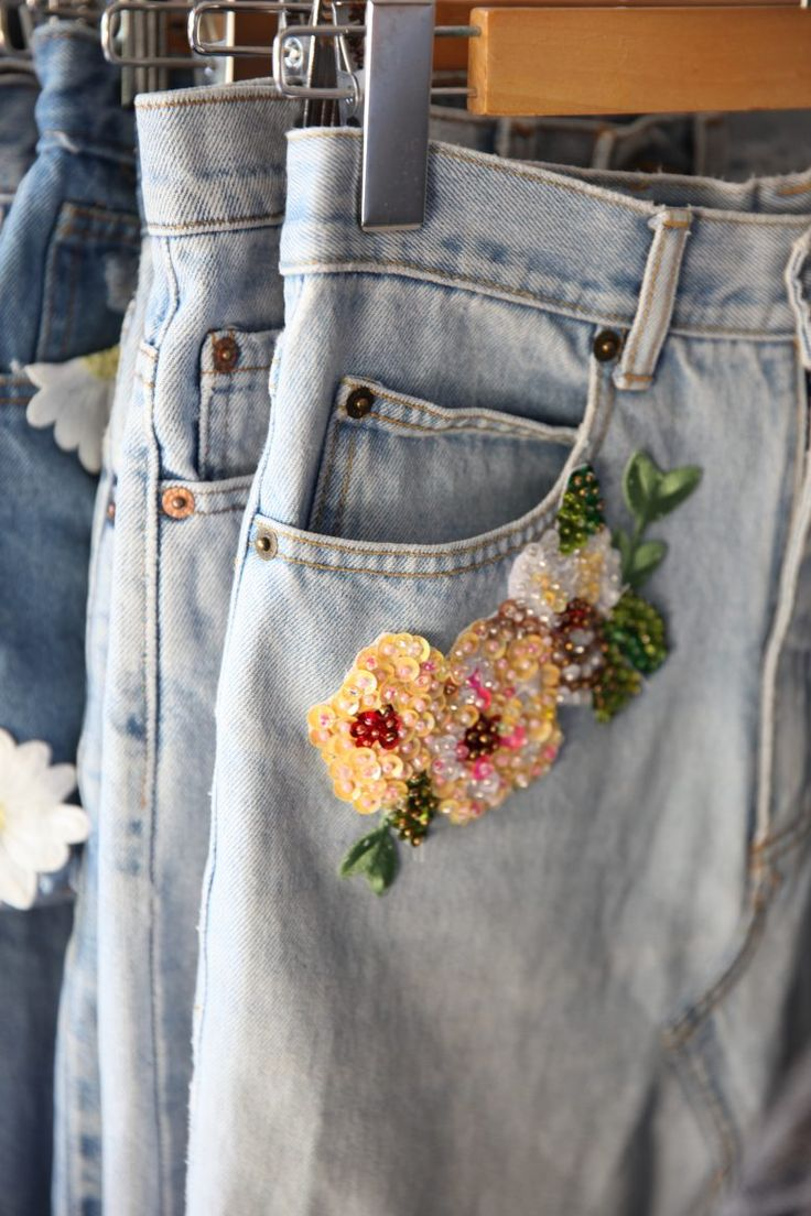 A Pair & A Spare | How to: Sequin Embroidered Denim with Hatrik Vintage