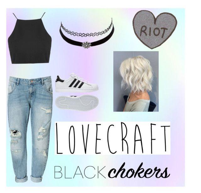 """Tumblr girl, grunge, black"" by raque-santacruzv on Polyvore featuring moda, Zara, Charlotte Russe, adidas y Topshop"
