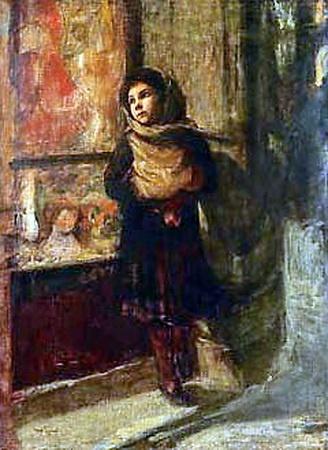 Igor Grabar (Игорь Эммануилович Грабарь, 1871-1960)  Girl in Puppy Store