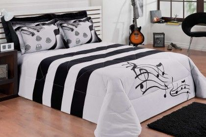 musical bed. #music #interiors #bedding http://www.pinterest.com/TheHitman14/music-interiors-%2B/
