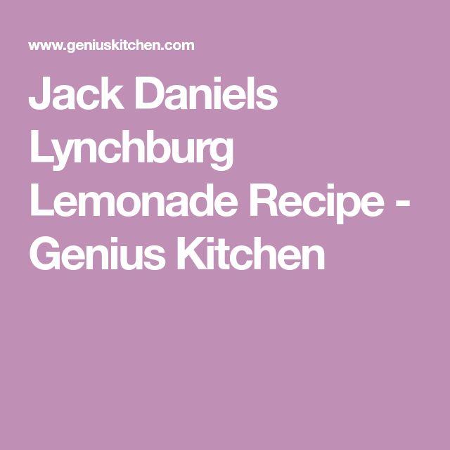 Jack Daniels Lynchburg Lemonade Recipe - Genius Kitchen