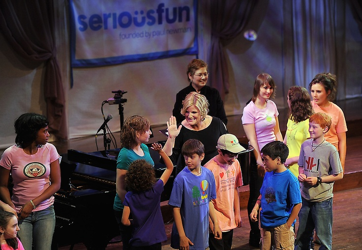 Singing with the children from the Paul Newman Hole In The Wall Gang in NYC! Serious Fun!