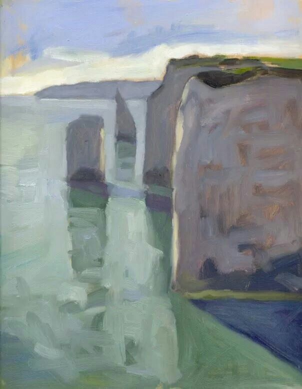 Artist Ben Spurling - early afternoon at Old Harry Rocks