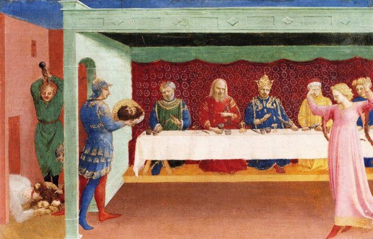 BEATO ANGELICO - Decollazione del Battista e Banchetto di Erode - tempera su tavola - c. 1427-1428 - Musée du Louvre, Paris