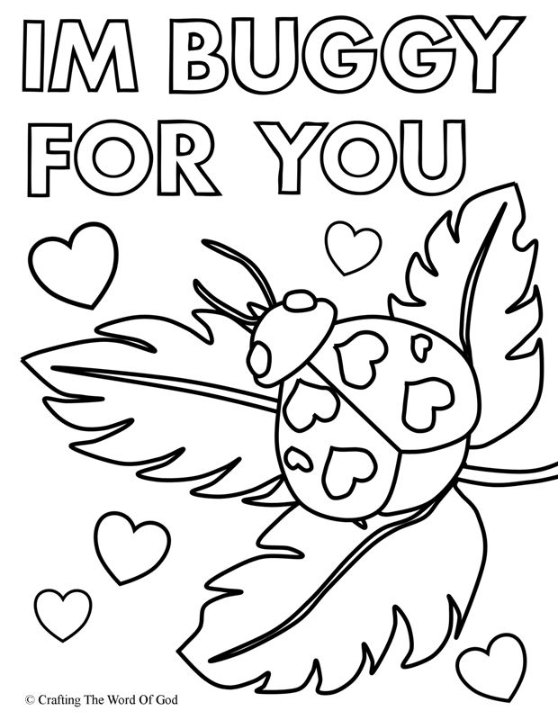 Im Buggy For You- Coloring Page