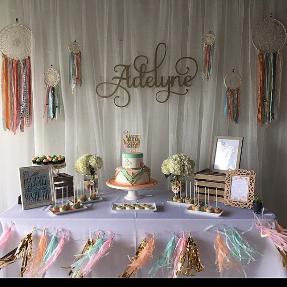 Birthday Backdrop Wooden Name Large Custom Name Sign 1st Etsy Owl Baby Shower Decorations Boho Baby Shower Pink Owl Baby Shower