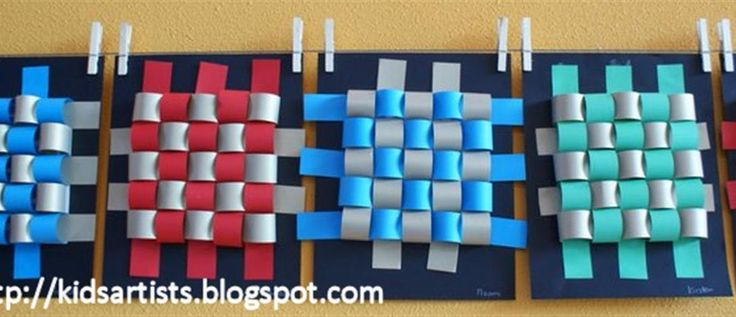 Made by students of grade 3 You need: paper strips in two colours,4 x about 50 cm black cardbaord scissors glue printed grid of 5 by...