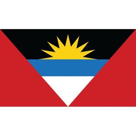 SeaSense Antigua Flag, 12 inch x 18 inch, White