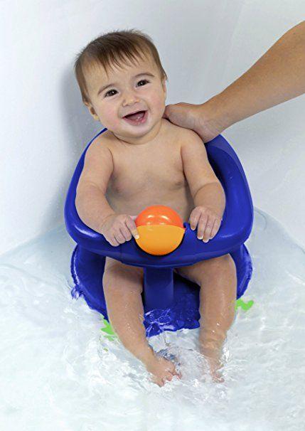 Safety 1st Seggiolino da bagno, girevole di 360°, con ventose e giocattolo integrato, Blu: Amazon.it: Prima infanzia