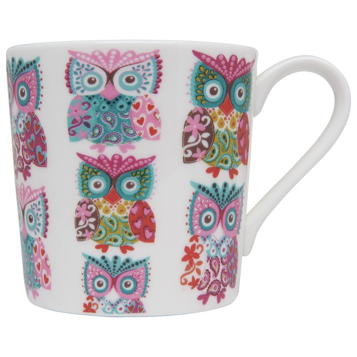 owl mug ♥ my sis needs this!