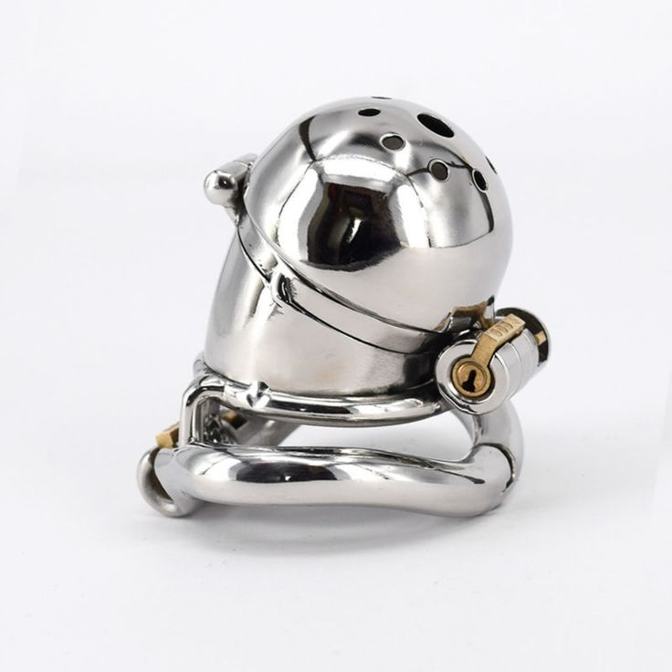 Male Chastity Cage Stainless Steel Chastity Belt Penis Restraint with 4 Arc Base Activities Lock Ring Adult Toys For Men