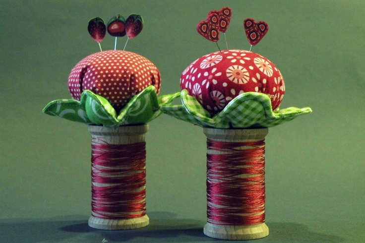 Pincushion  Would be so cute made from a vintage wooden spool!