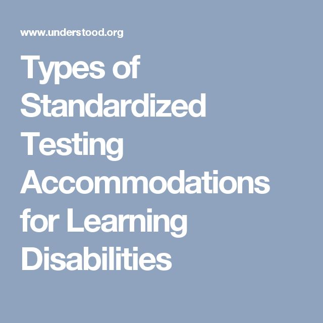 Types of Standardized Testing Accommodations for Learning Disabilities