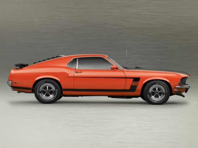 1969 Ford Mustang Boss 302. I hated that this car was competition for my beloved Z/28 Camaro but in my rational moments I knew this was a spectacular car.